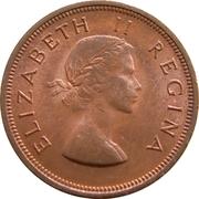 1 Penny - Elizabeth II (1st portrait) – obverse
