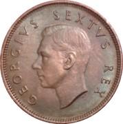 ½ Penny - George VI – obverse