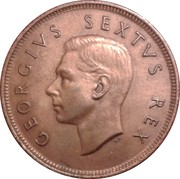 1 Penny - George VI (SUID AFRIKA - SOUTH AFRICA) – obverse