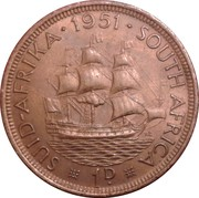 1 Penny - George VI (SUID AFRIKA - SOUTH AFRICA) – reverse