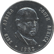 1 Rand (Balthazar J. Vorster) – obverse