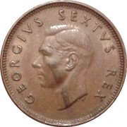 ¼ Penny - George VI (SUID AFRIKA - SOUTH AFRICA) – obverse