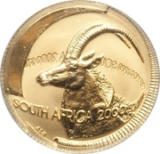 1/10 Ounce - Natura Sable, Queen of the Antelopes – obverse