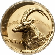 ¼ Ounce (Natura - Sable, Queen of the Antelopes) – obverse
