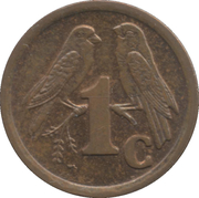 1 Cent (SOUTH AFRICA - SUID-AFRIKA) -  reverse