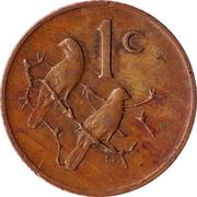 1 Cent (Nicolaas J. Diederichs) -  reverse