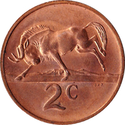 2 Cents (English Legend - SOUTH AFRICA) -  reverse