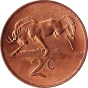 2 Cents (SOUTH AFRICA - SUID AFRIKA) -  reverse