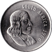 20 Cents (English Legend - SOUTH AFRICA) -  obverse