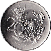 20 Cents (English Legend - SOUTH AFRICA) -  reverse