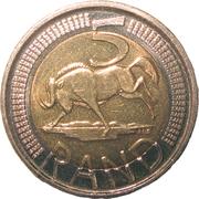 5 Rand (Afurika Tshipembe - iSewula Afrika) – reverse