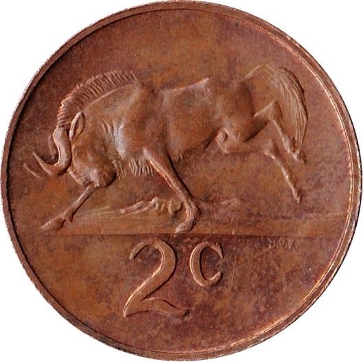 2 Cents Afrikaans Legend Suid Afrika South Africa Numista