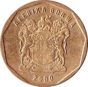 20 Cents (Tswana Legend - AFERIKA BORWA) -  obverse