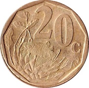 20 Cents (Tswana Legend - AFERIKA BORWA) -  reverse