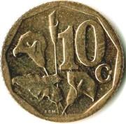 10 Cents (Ndebele legend - iSewula Afrika) -  reverse