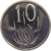 10 Cents (SOUTH AFRICA - SUID-AFRIKA) -  reverse
