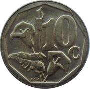 10 Cents (Afrikaans Legend - Suid-Afrika) -  reverse