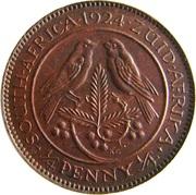 ¼ Penny - George V   (¼ Penny ¼) – reverse