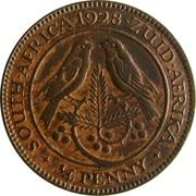 ¼ Penny - George V  (¼ Penny) – reverse