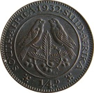 ¼ Penny - George V   (¼ D) – reverse