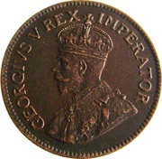 ½ Penny - George V (½D) – obverse