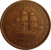 ½ Penny - George V (½ Penny) – reverse