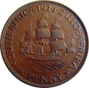 1 Penny George V (Penny) -  reverse