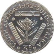 3 Pence - George VI -  reverse