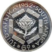 6 Pence - George VI (SUID AFRIKA - SOUTH AFRICA) – reverse