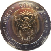 5 Rand (90 Years South African Reserve Bank) – obverse