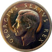 ½ Pound - George VI – obverse