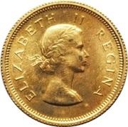 ½ Pound - Elizabeth II (1st portrait) – obverse