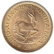 2 Rand Gold (1st & 2nd decimal series) -  reverse