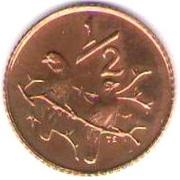½ Cent (Jacobus Johannes Fouché) – reverse
