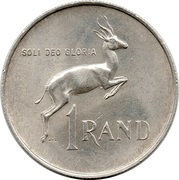 1 Rand (Dr. H.F Verwoerd; English Legend - SOUTH AFRICA) – reverse
