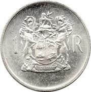 1 Rand (Dr. T.E. Dönges; English Legend - SOUTH AFRICA) – reverse