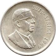 1 Rand (Dr. T.E. Dönges; Afrikaans Legend - SUID AFRIKA) -  obverse