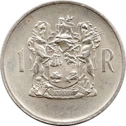 1 Rand (Dr. T.E. Dönges; Afrikaans Legend - SUID AFRIKA) – reverse