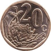 20 Cents (Tswana Legend - Aforika Borwa) -  reverse