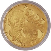 25 Rand  / 1 Ounce (FW de Klerk and NR Mandela) – reverse