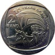 2 Rand (10 Years Freedom) – reverse