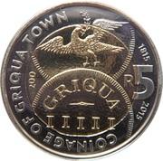 5 Rand (Griqua Town Coinage Bicentennial) – reverse