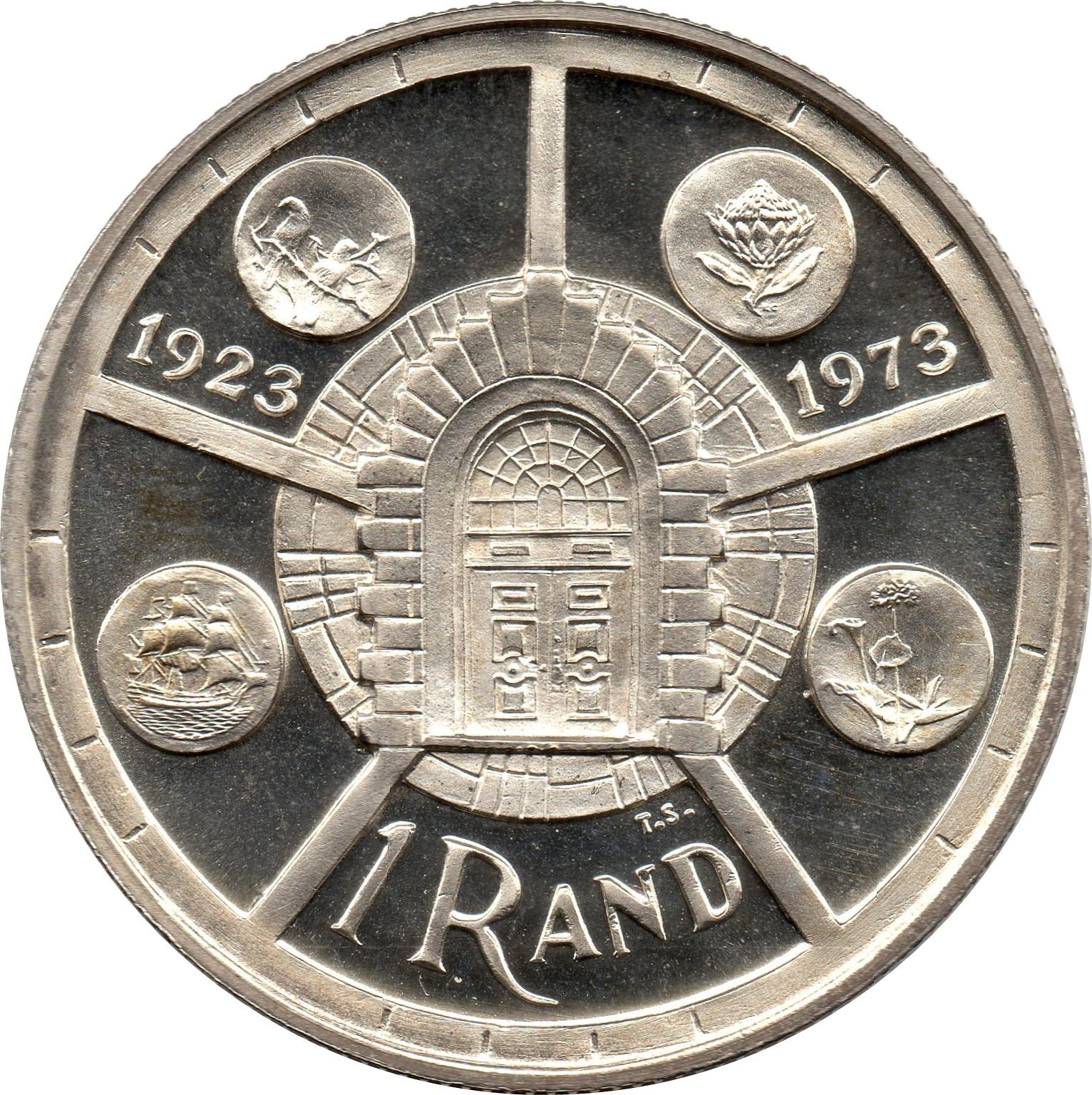 1 Rand Anniversary Of Pretoria Mint South Africa Numista