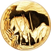 ¼ Ounce (Natura - Gemsbok, Prince of the Kalahari) – reverse