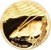 1/10 Ounce (Natura - Gemsbok, Prince of the Kalahari) – reverse