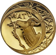 1 Ounce (Natura - Kudu, King of the Antelopes) – reverse