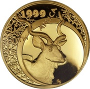 ¼ Ounce - Natura Kudu, King of the Antelopes – obverse