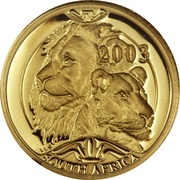 1/10 Ounce / 10 Rand (Natura - Lion) – obverse