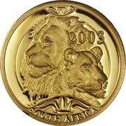 10 Rand - 1/10 Ounce (Natura - Lion) – obverse