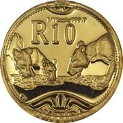10 Rand - 1/10 Ounce (Natura - Lion) – reverse